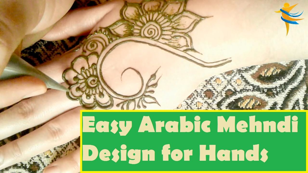Very simple and easy arabic mehndi design for hands the first video of also rh pinterest