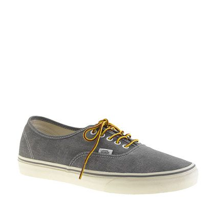 8911e26d75f Vans® for J.Crew washed canvas authentic sneakers - sneakers - Men s shoes  - J.Crew