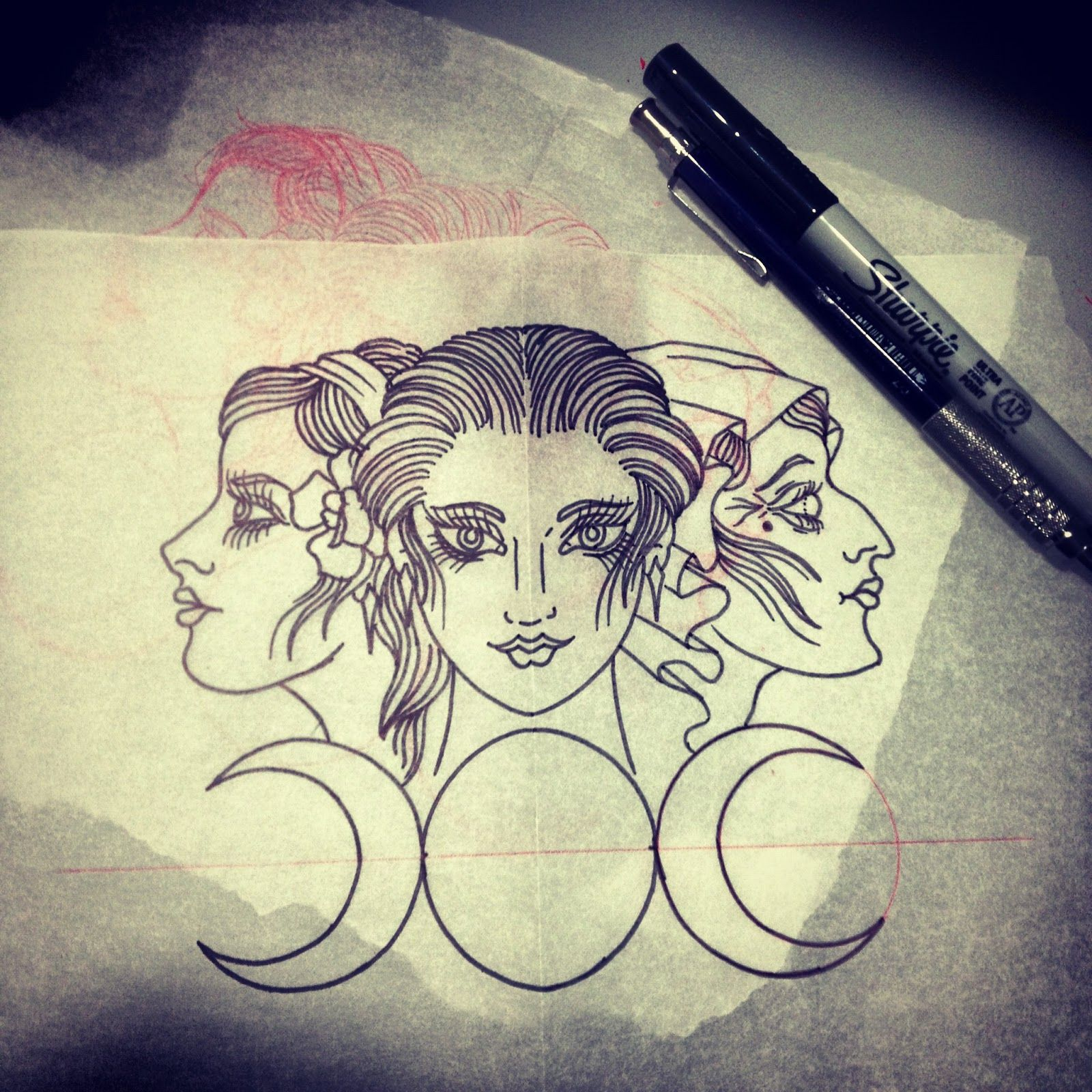 triple goddess tattoo google search tattoos pinterest rh pinterest com au triple goddess tattoo symbol triple goddess tattoo symbol meaning