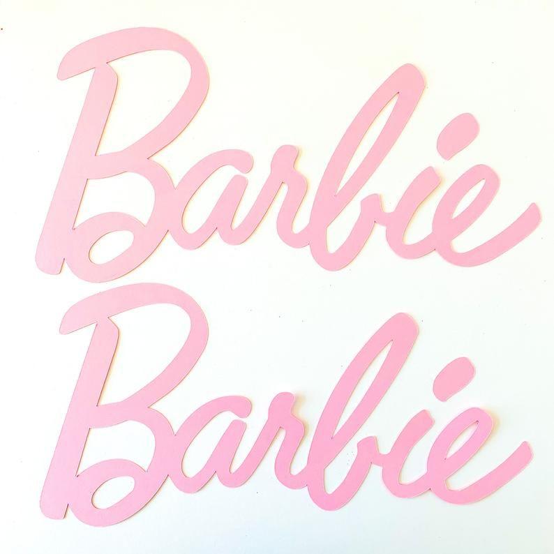Barbie Logo Light Pink Barbie Logo Barbie Party Barbie Birthday Barbie Box Barbie Decorations Barbie Barbie Game Barbie Favor Pink In 2021 Barbie Birthday Party Games Barbie Party Decorations Barbie Birthday