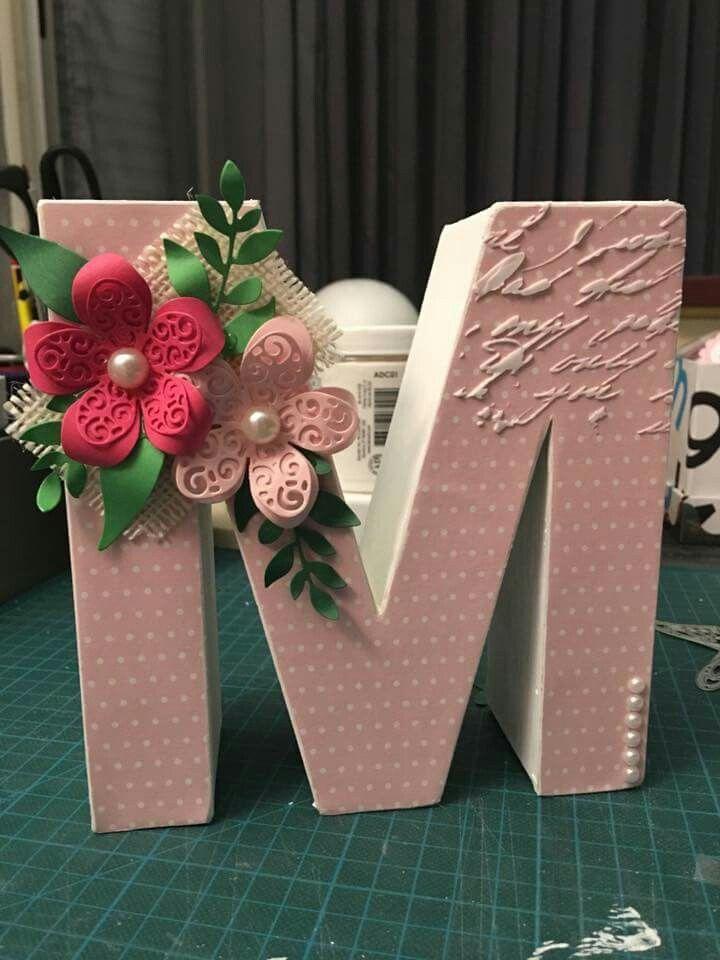 Pin de paula en letras decoradas pinterest letras decoradas letras y letras en 3d - Letras grandes decoradas ...