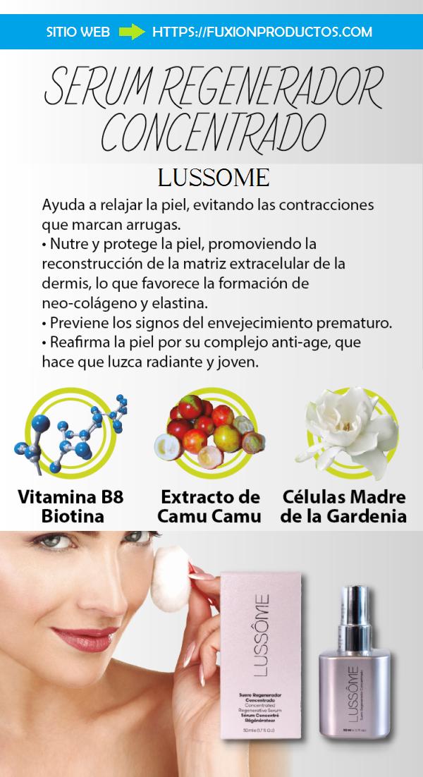 Serum Regenerador Concentrado Lussome Suero Para Nutrir Y Proteger Piel Comprar Online Serum Piel Colageno