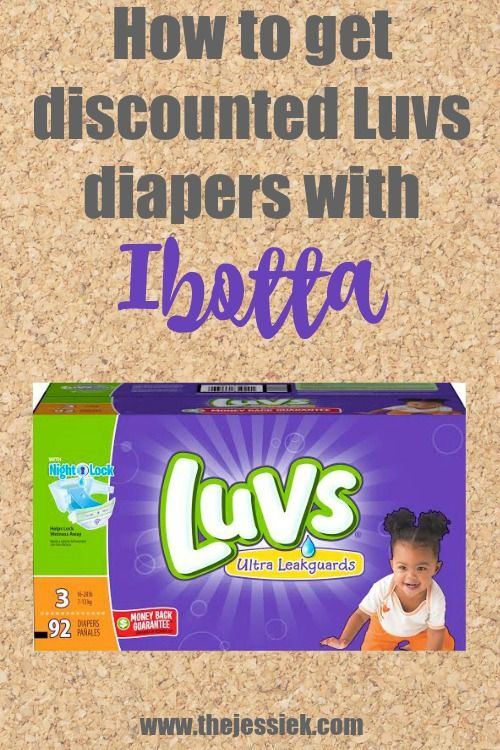 How to get discounted Luvs diapers with Ibotta!