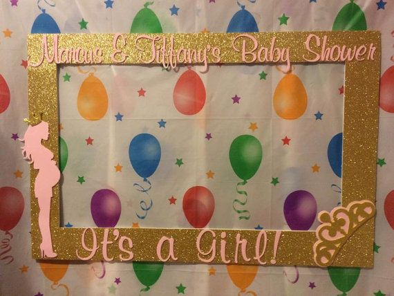 photo frame party prop pink gold princess crown baby shower to take pictures royal princess