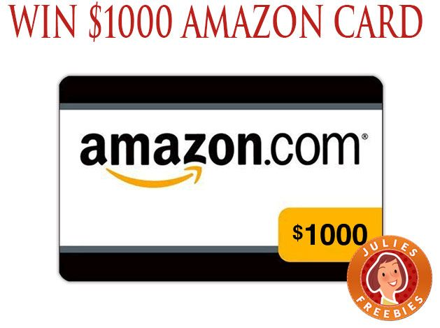 Enter To Win A 1000 Amazon Gift Card 5 Winners Julie S Freebies Amazon Gift Cards Amazon Gifts Amazon Gift Card Free