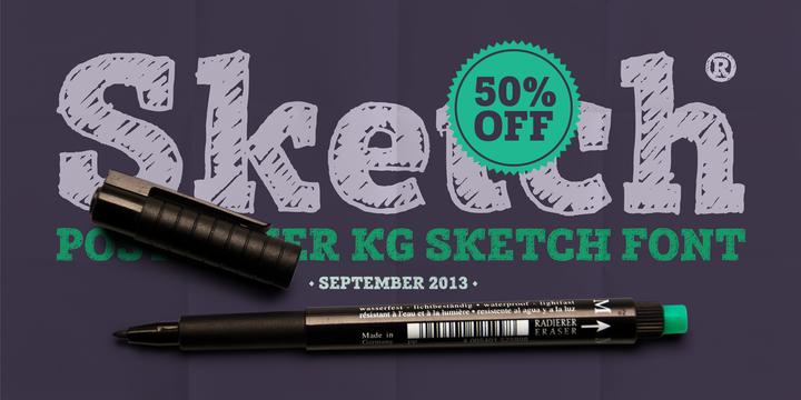 Font dňa – Posterizer KG Sketch (zľava 50%, 15,00$) - http://detepe.sk/font-dna-posterizer-kg-sketch-zlava-50-1500/