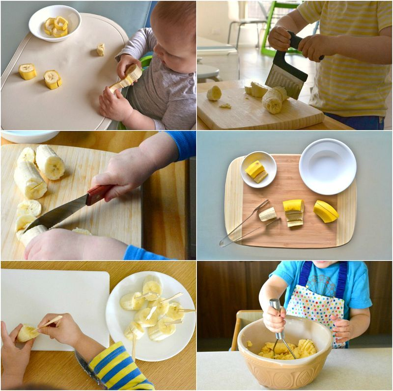 Montessori Banana Practical Life Food activities for