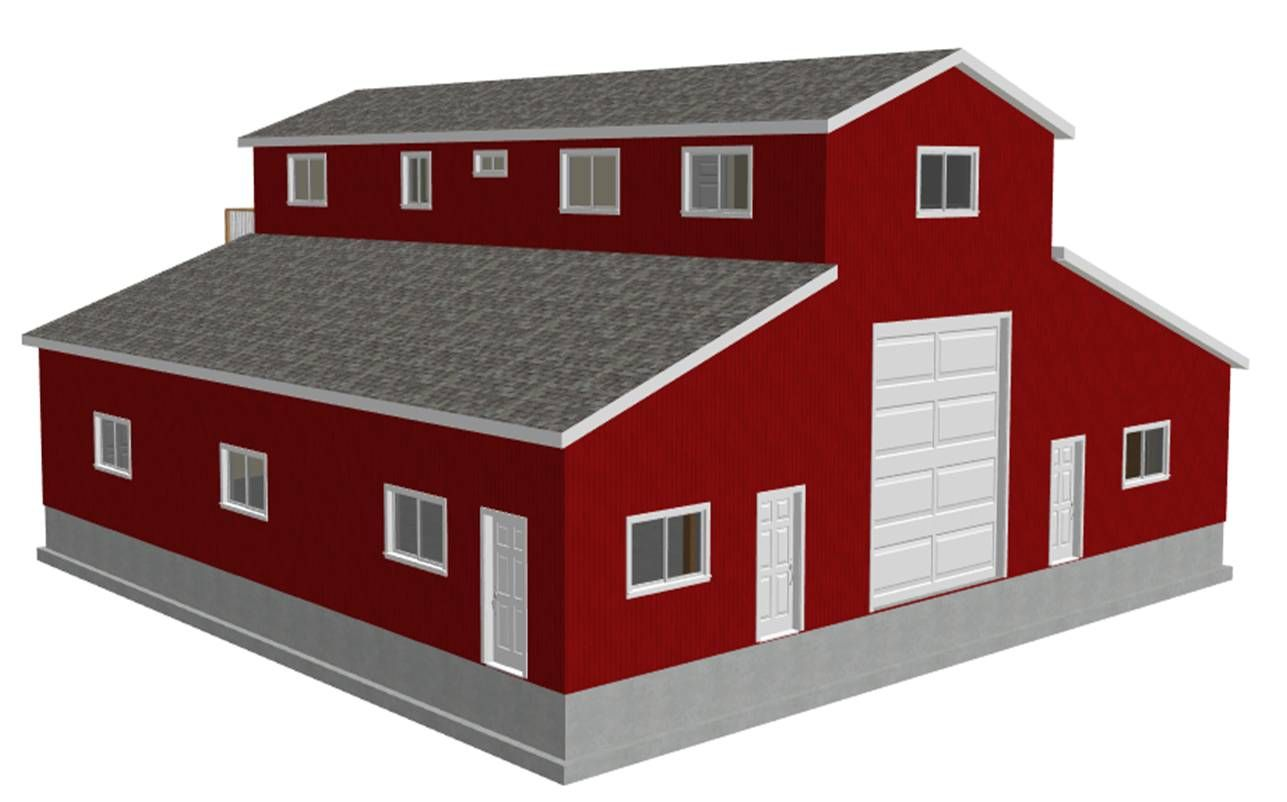 Apartment Barn Plans Steel Buildings With Living Quarters Pole Barn With