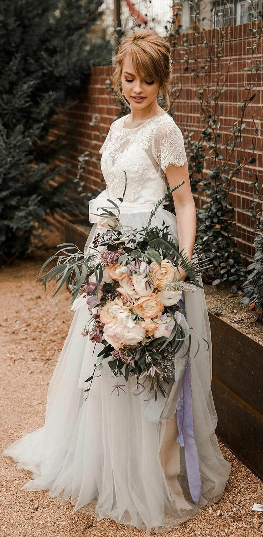 Silver Wedding Dresses Country Weding Dresses Bohemian Wedding Dress Rustic Wedding Dress Short Sleeve Wedding Dress Wedding Dresses Lace Cheap Bridal Dresses