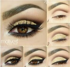 Sexy Gold and Black shadow eyes
