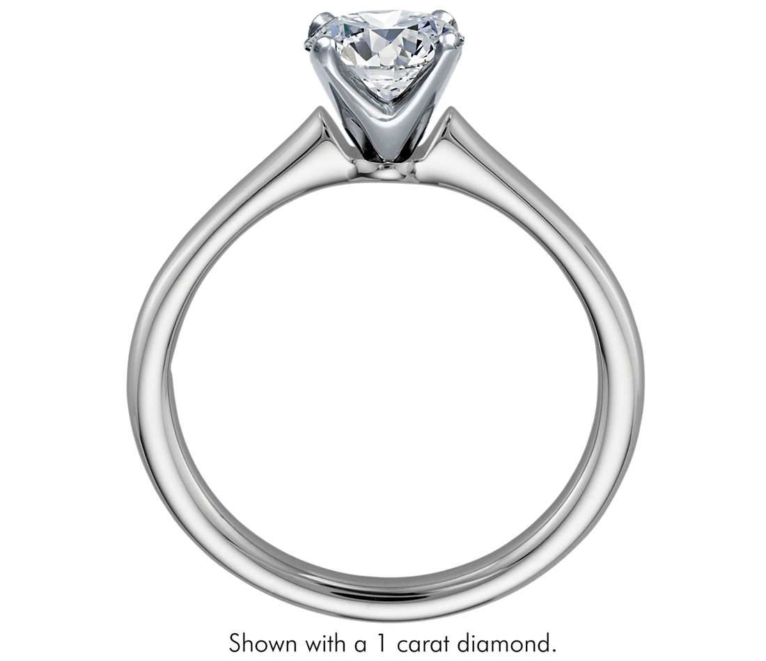 with set prong a engagement cushion min product solitaire rings ring carat diamond four cut