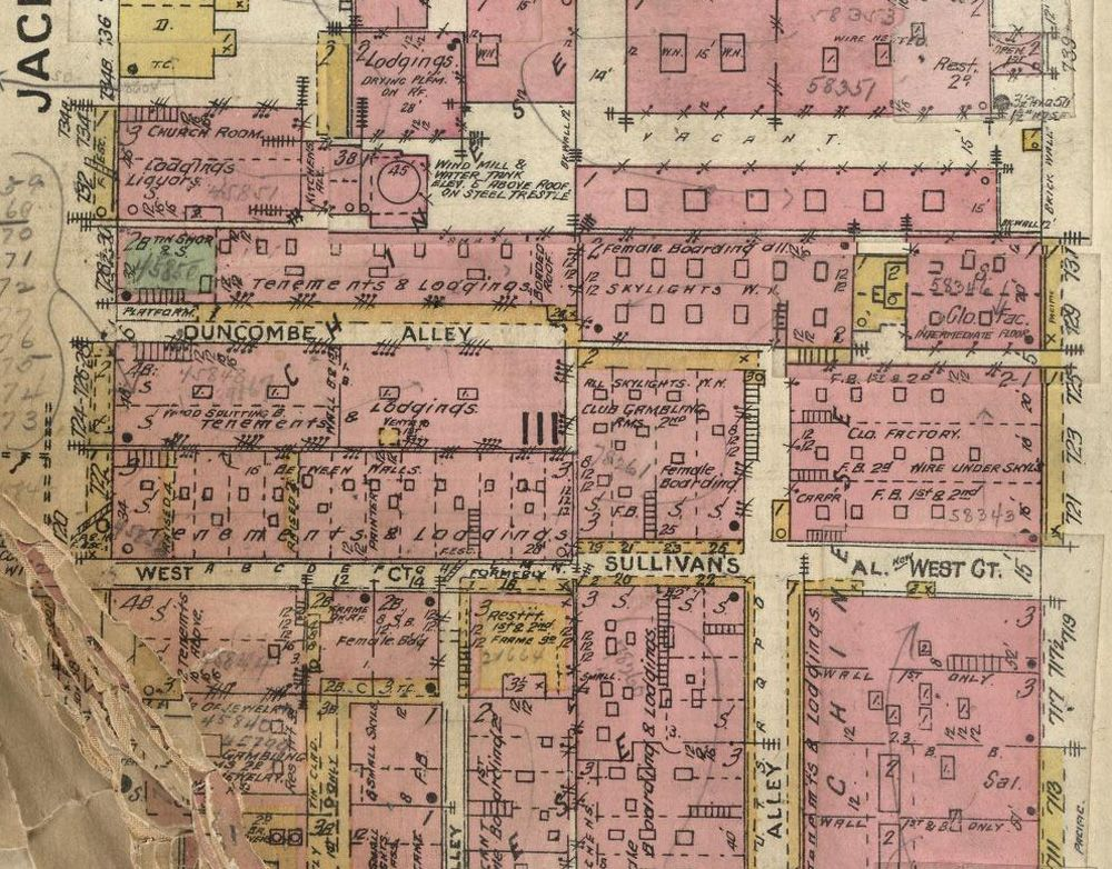 1885 Map Reveals Vice in San Franciscou0027s