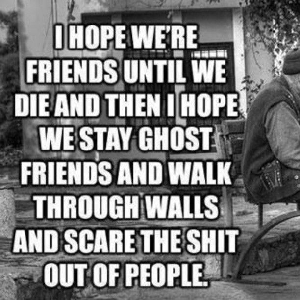 Im coming back as a ghost with my friends