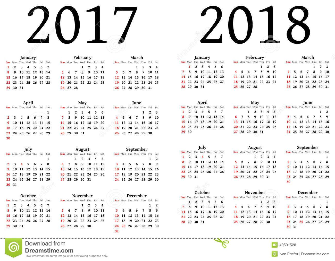 Printable Calendar  And   Calendrier  Annuel Gratuit