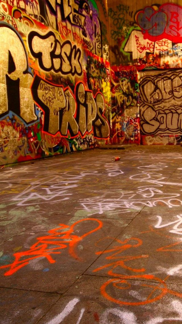 Graffiti room iPhone Wallpapers (With images) Graffiti