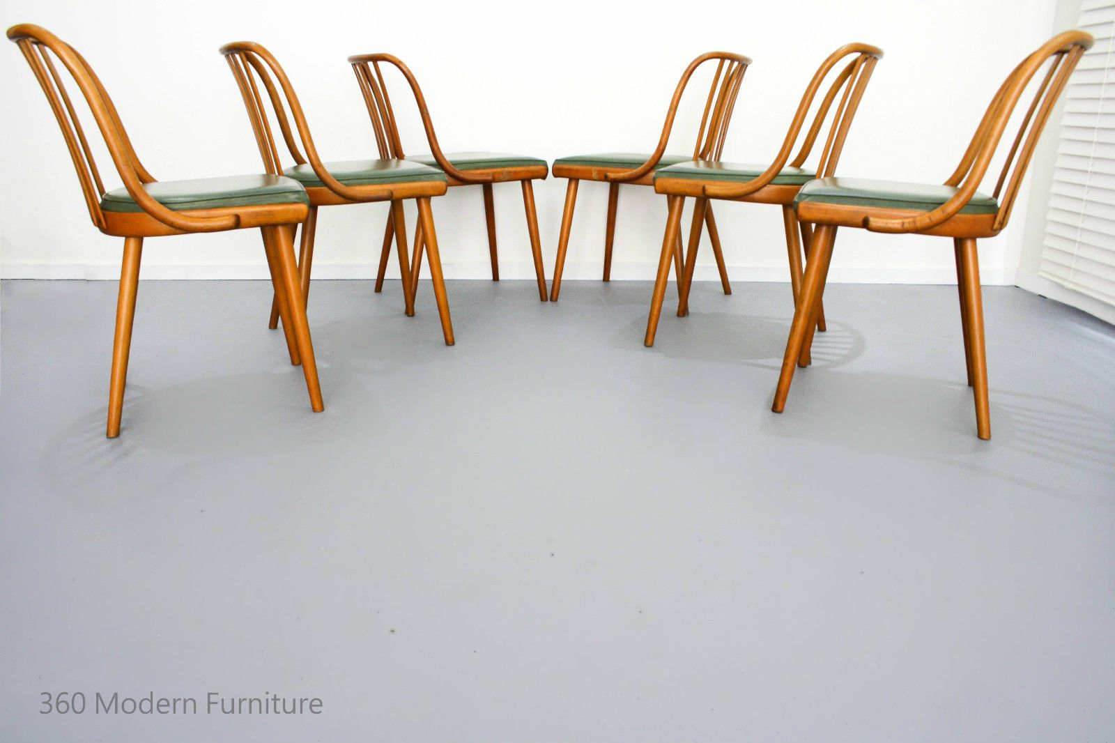Original Bentwood Dining Chairs X 6 Ligna Vintage Retro Mid Century Thonet Czech In Home Garden Furniture Room