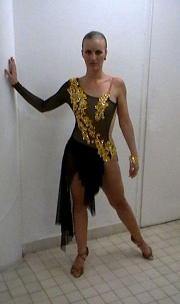 3195d24601 M008 Black yellow latin dress - Dreamgown