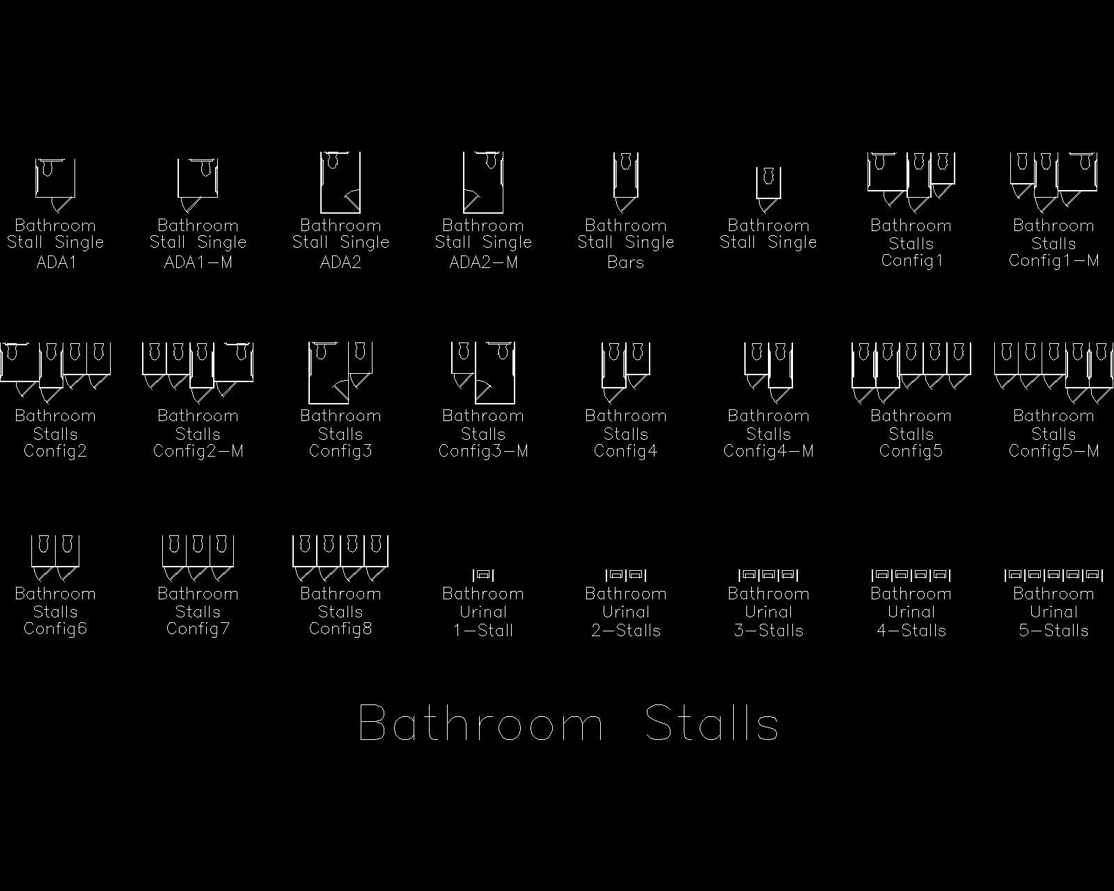 Bathroom stall cad block ideas pinterest autocad for Autocad ada bathroom blocks