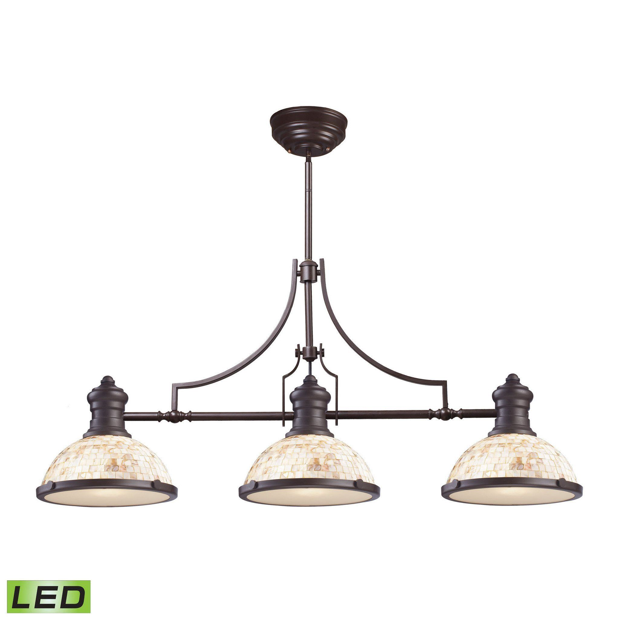 Elk lighting 66435 3 led chadwick collection oiled bronze finish