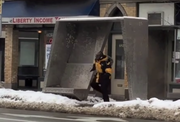 A video posted on Vimeo.com shows the unknown man breaking out some pretty good dance moves at a bus stop on the corner of West 65th Street and Detroit Avenue.