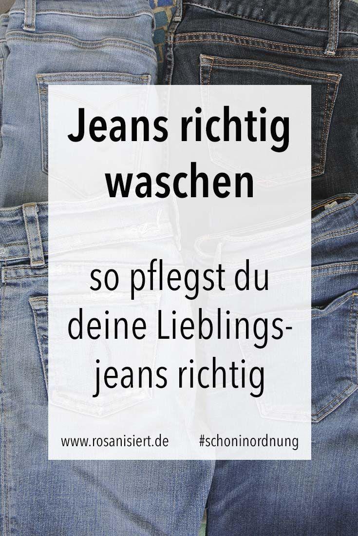 Wie Jeans Waschen