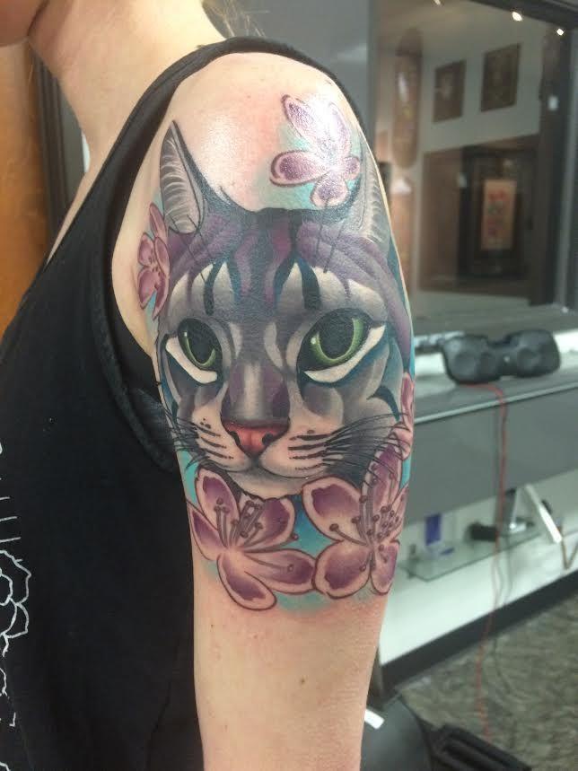 5494a41f4 Artist Tim Stafford at Pigment Tattoo & Laser Removal in Austin, Texas.