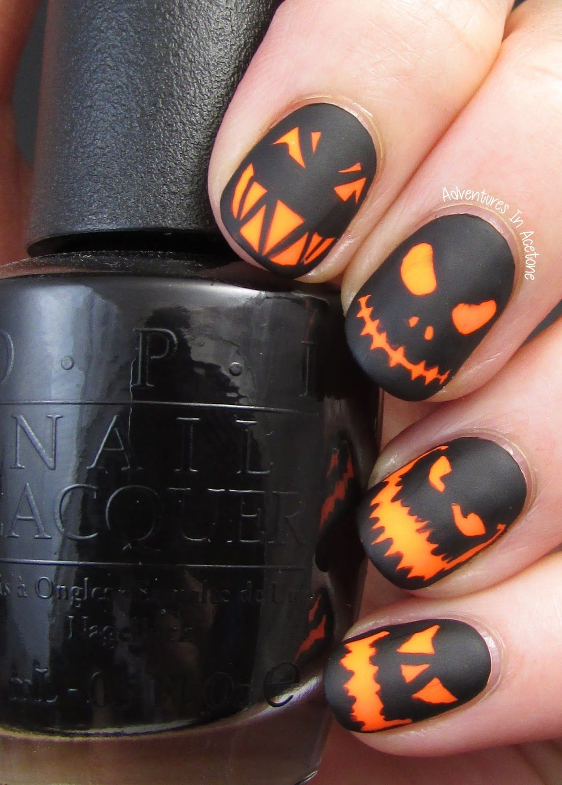 Adventures In Acetone The Digit Al Dozen Does Spooky Days Day 1 Glowing Jack O Lanterns Llafterdark Halloween Nail Designs Fall Nail Art Nails