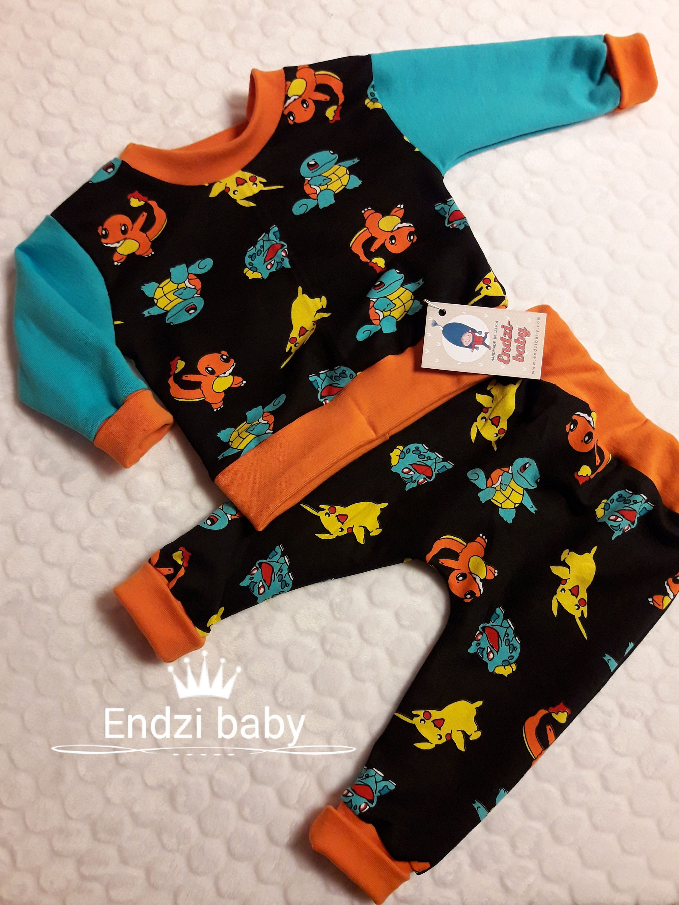 Pokemon go Pikachu POKEMON Baby free ship Organic baby clothes