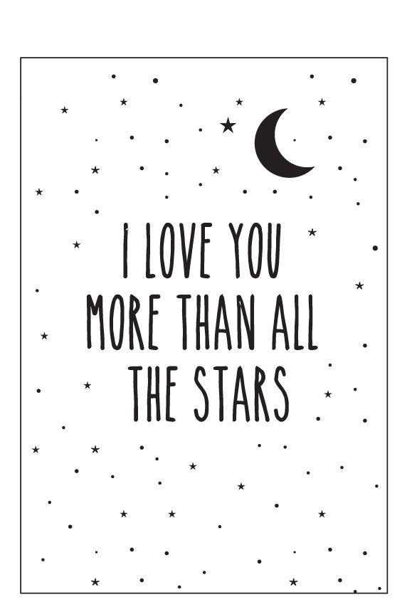 Eef Lillemor Poster - I Love You More - A3   posters jada slaapkamer ...