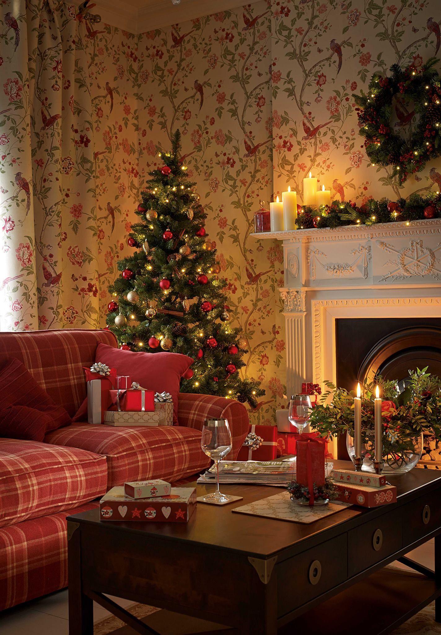 Christmas D 233 Cor Season Holiday Setting Fireplace Christmas