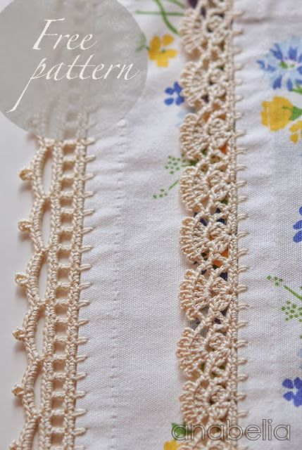 Crochet edgings - you have the option to translate the page, but the patterns are diagrams and easy to follow. I LOVE the one on the left!
