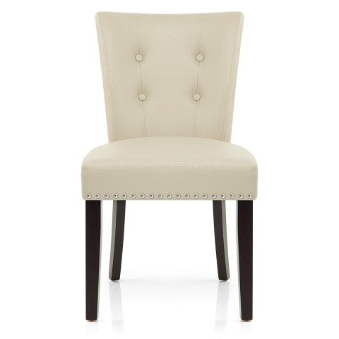 Great Buckingham Dining Chair Cream Leather | Dining Chairs, Wenge Wood And  Leather