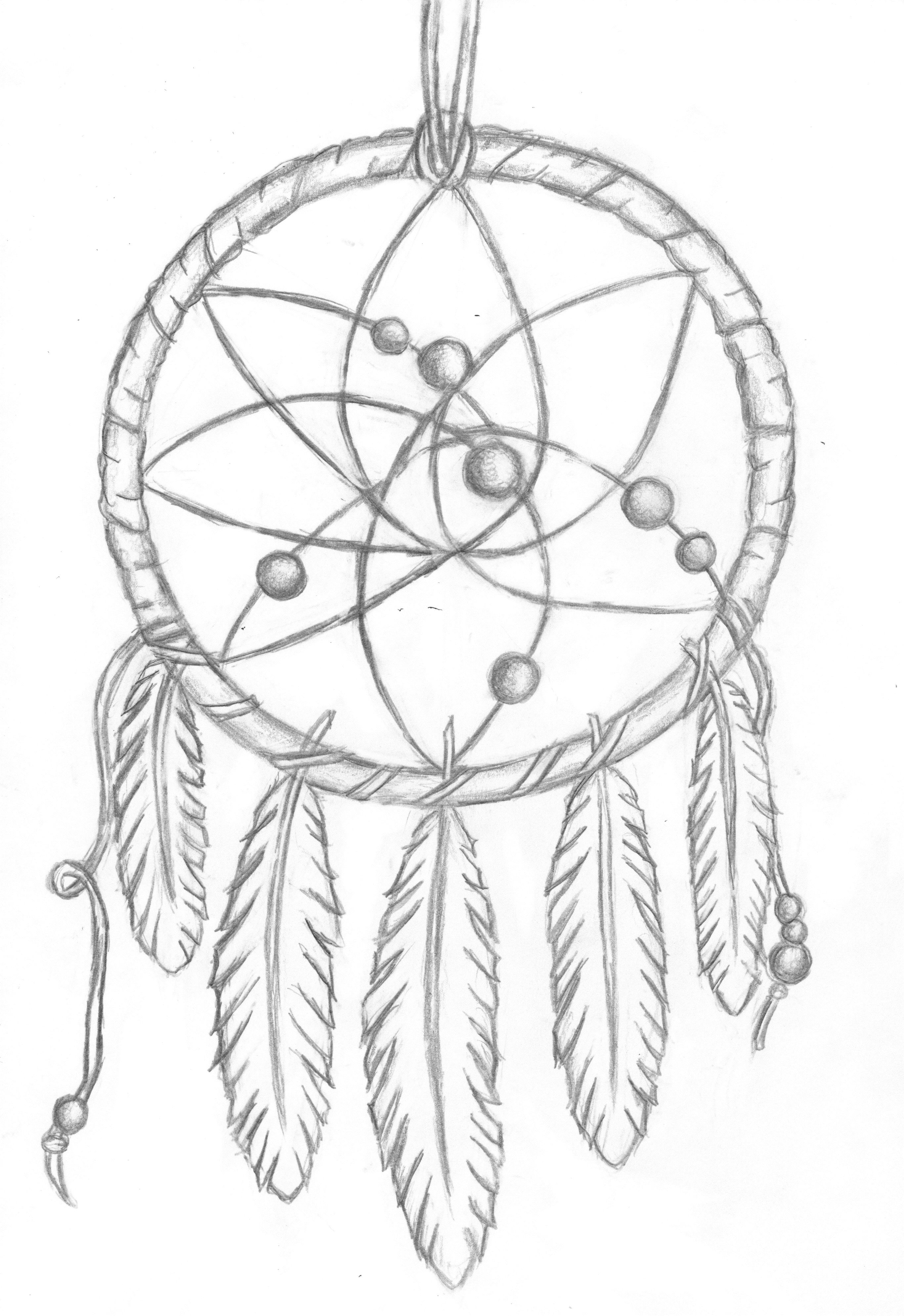 Simple Dream Catcher Drawing : simple, dream, catcher, drawing, Dreamcatcher, Drawing, SummerOfLove, Dream, Catcher, Coloring, Pages,, Drawing,