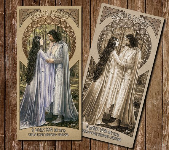Participation in wedding style Lord of the rings Aragorn and Arwen