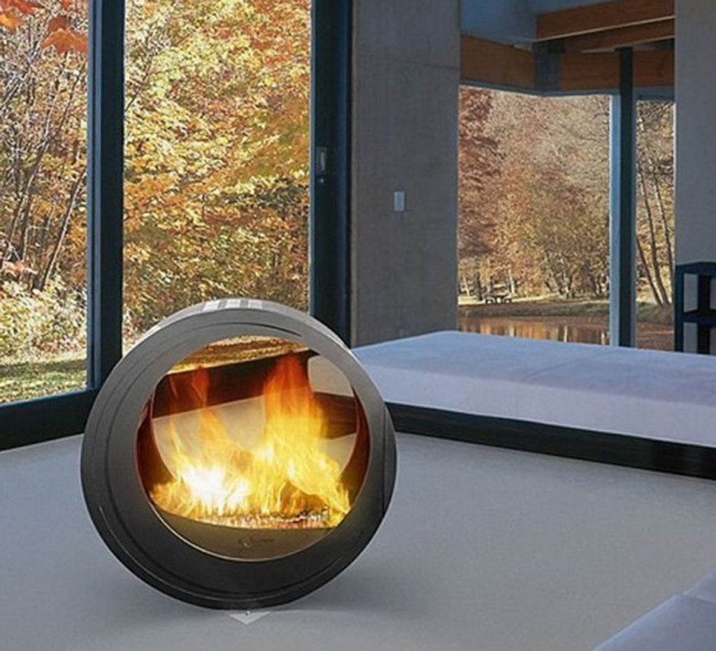 Modern indoor and outdoor design fireplaces mobile home round design ...
