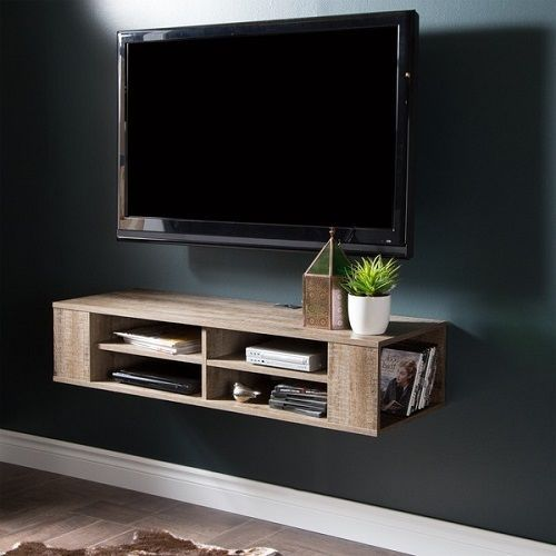 Tv Helping Push Kitchens Off The Shelf: Wall Mounted TV Media Stand Center Movie Storage Cabinet
