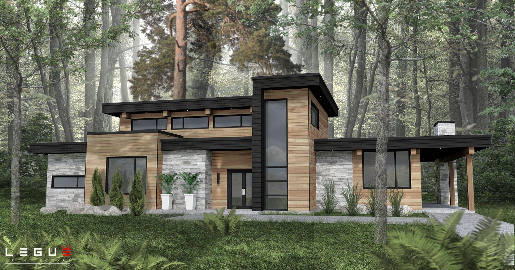 Obtenez Un Plan De Maison Sur Mesure Legue Architecture Contemporary House Design Contemporary House Exterior House Exterior