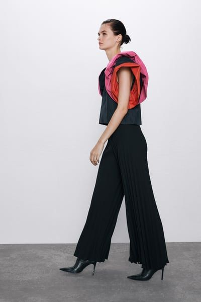 Photo of PLEATED WIDE LEG PANTS