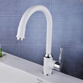 contemporary centerset white painting kitchen sink tap t0553 - Kitchen Sink Tap