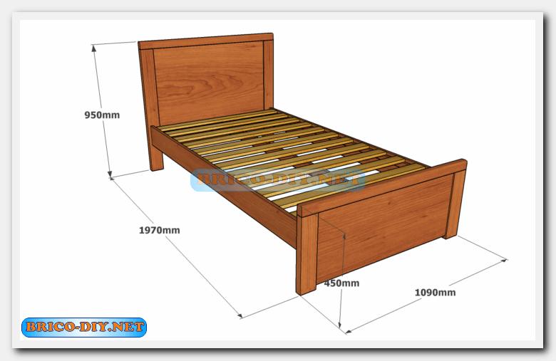 Camas de madera plano con medidas de una plaza y media for Planos muebles madera