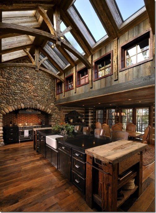 Rustic Kitchen Design Ideas | Casas, Cabañas madera y Cabañas