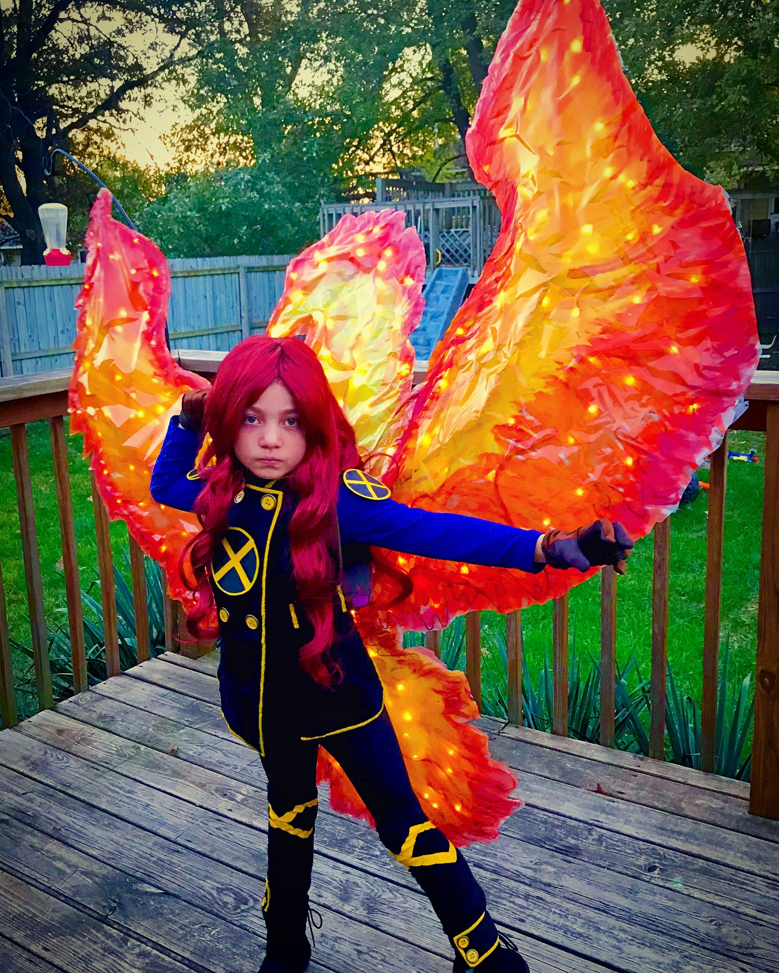 Jean Grey, Phoenix, Fire Wings, Phoenix Wings, Cosplay, x