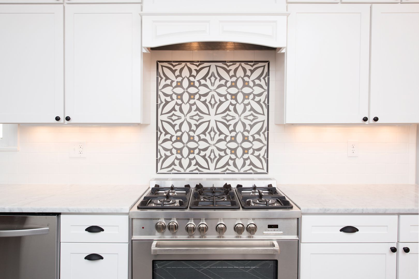 Cement tile backsplash accent cementtileshop photo for Cement tiles for kitchen