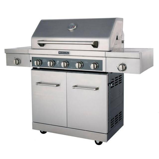 Consider The Large And Stainless Kitchenaid 5 Burner Model Gas