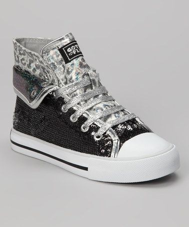 Take a look at this Black Convertible Aurora G Sneaker - Girls by Gotta Flurt on #zulily today!