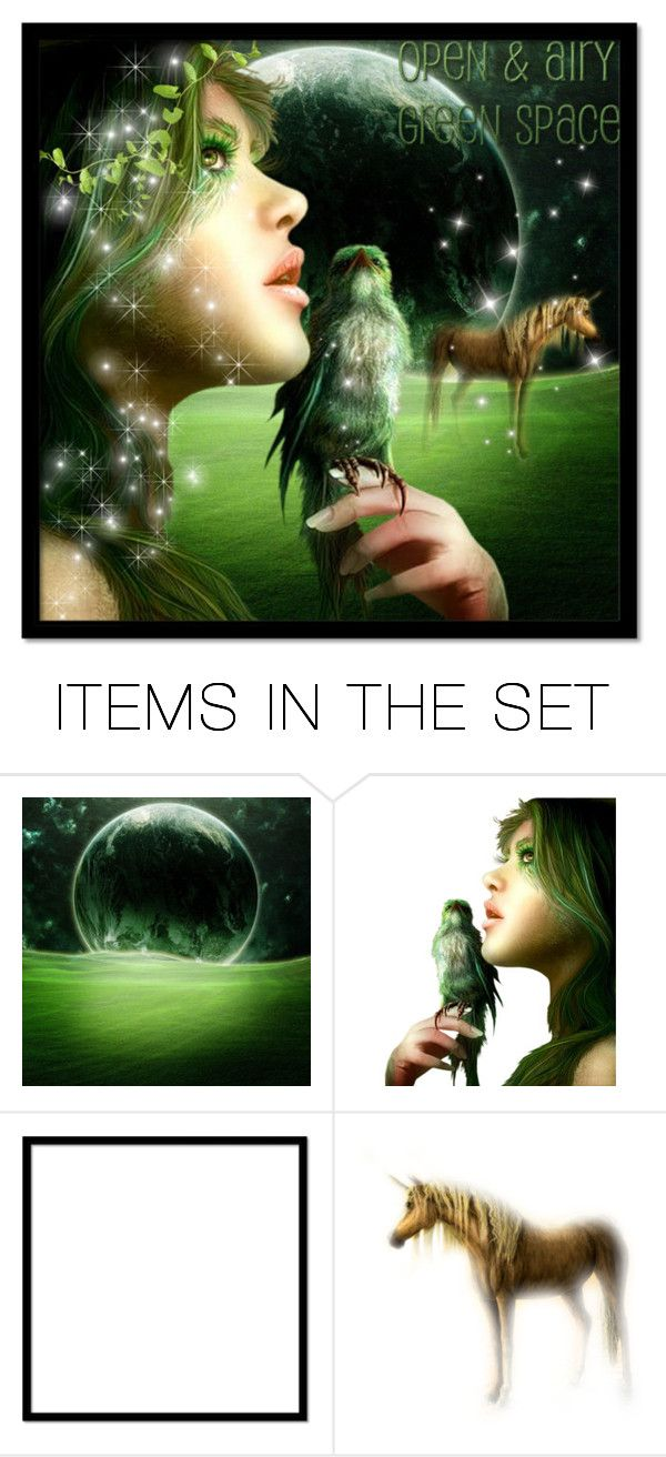 """GREEN SPACE"" by purplerose27 ❤ liked on Polyvore featuring art"
