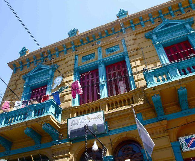 Photo Deco  Bleu Exotique Façades colorées maison Buenos Aires