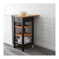 STENSTORP Carrello, marrone-nero, rovere - IKEA | Carrello cucina ...