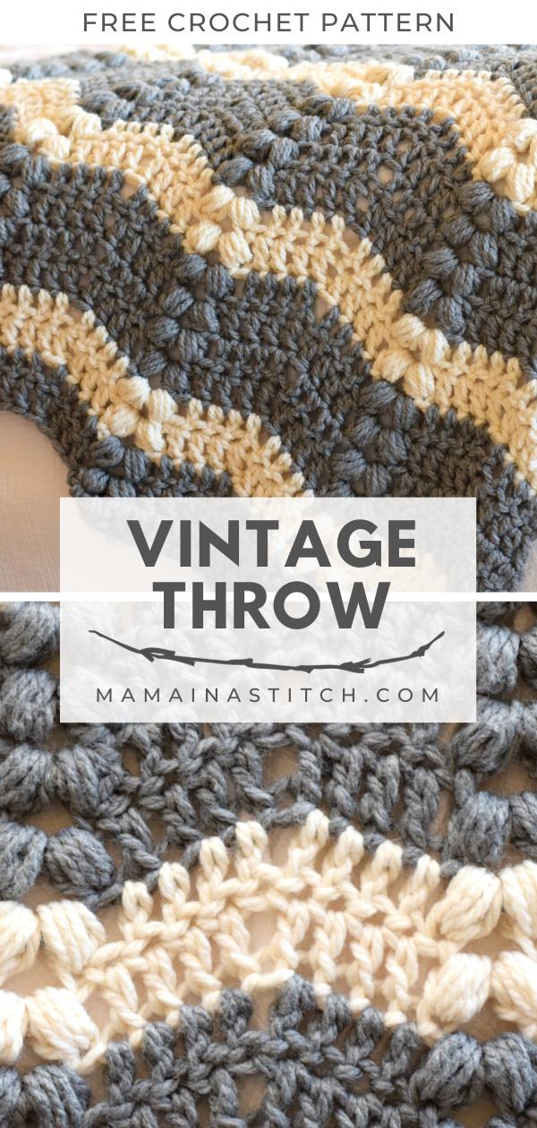Photo of Vintage Lola Crochet Ripple Throw Pattern
