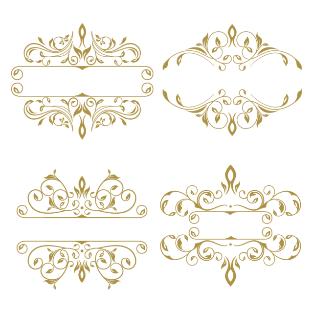 Collection Of Floral Ornament Frame Vintage Floral Gold Png And